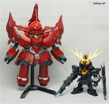 SDBB Neo Zeong and SDEX Unicorn Banshee Norn