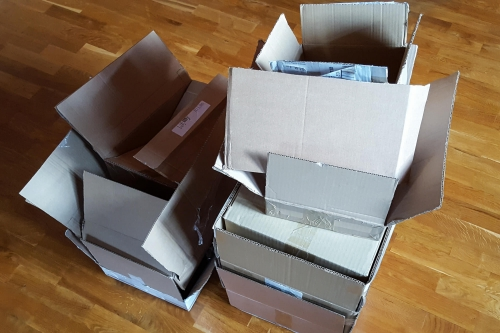 My stockpile of cardboard.